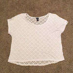 NWOT Torrid Lacy White T-Shirt